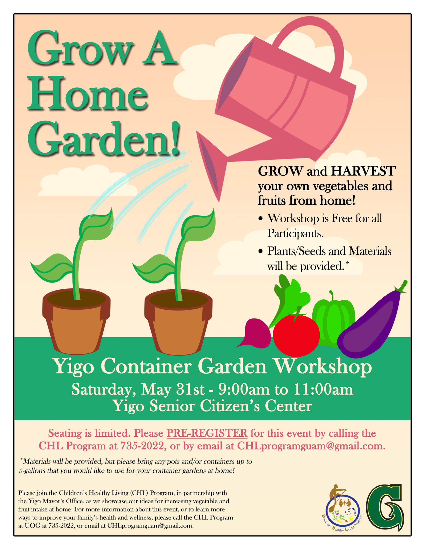 Container Garden Workshop Flyer