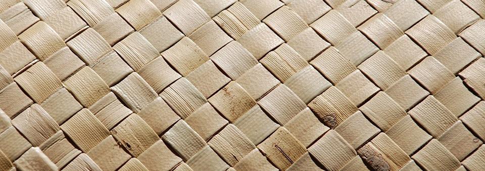 Weaved basket close up