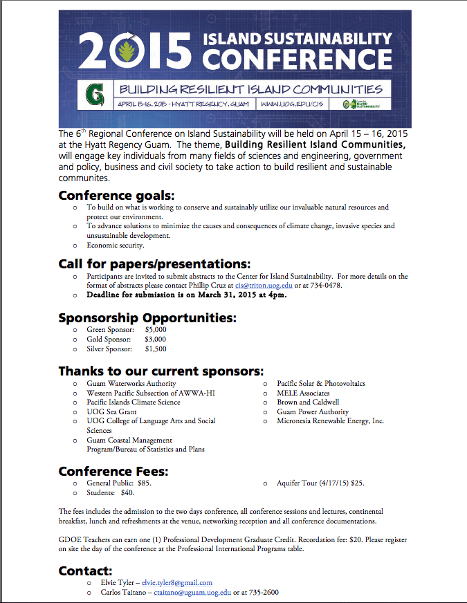 Sustainability Conference Flyer