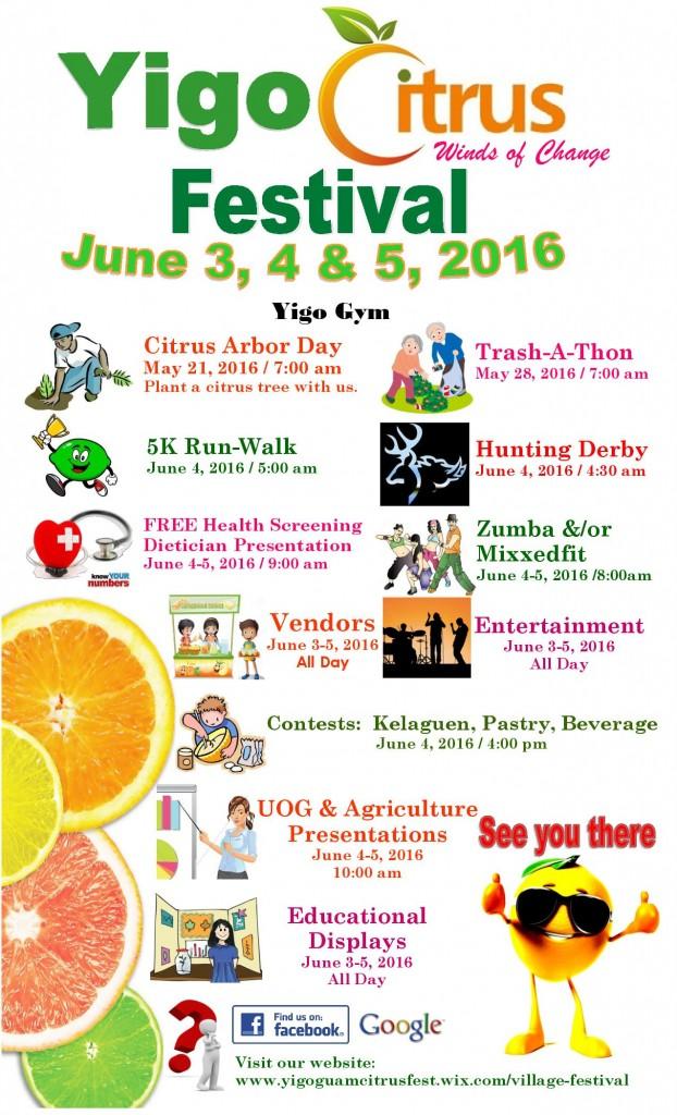 Yigo Citrus Festival Flyer