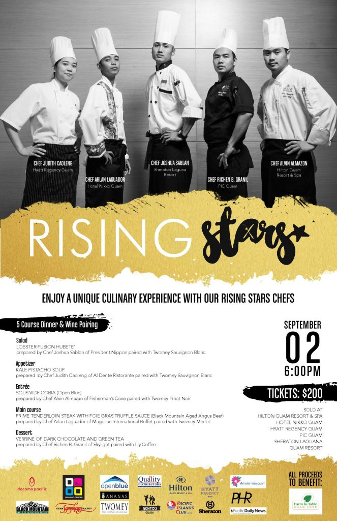Rising Stars Dinner Flyer