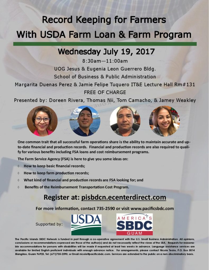 USDA Record keeping for Farmers Flyer