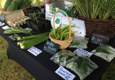 Where can I find local produce on Guam?